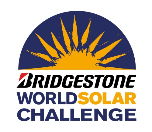 The logo of the 2013 Bridgestone World Solar Challenge